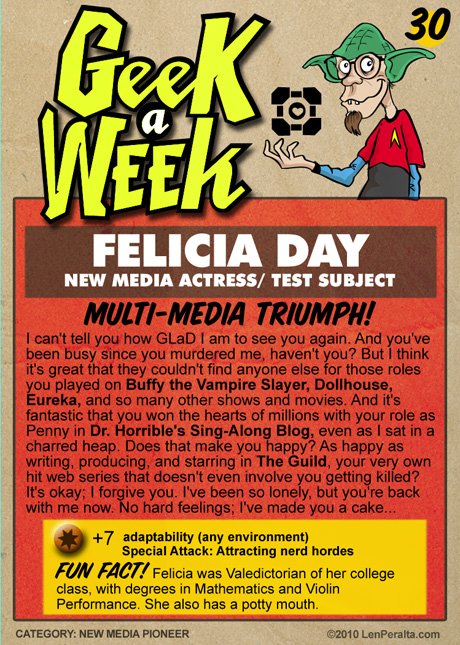 Felicia Day Card Back