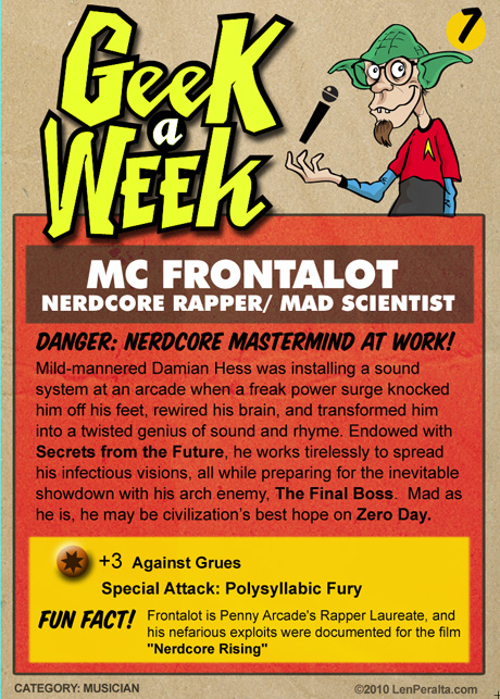 Geek A Week Challenge #7: MC Frontalot back