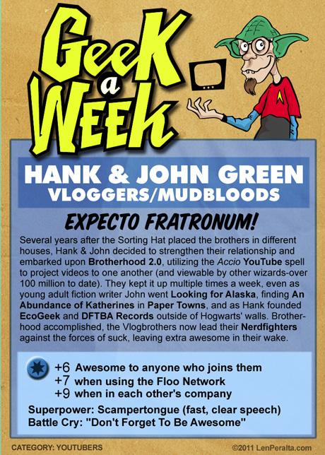 Geek A Week 2.0: Hank and John Green back