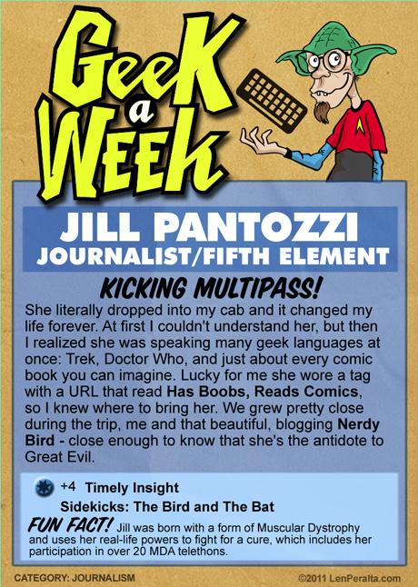 Geek A Week 2.0: Jill Pantozzi back