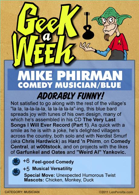 Geek A Week 2.0: Mike Phirman back