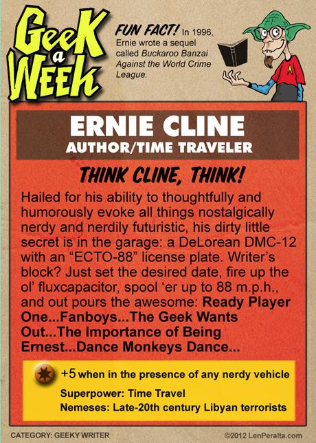 Geek A Week One-Offs: Ernie Cline back
