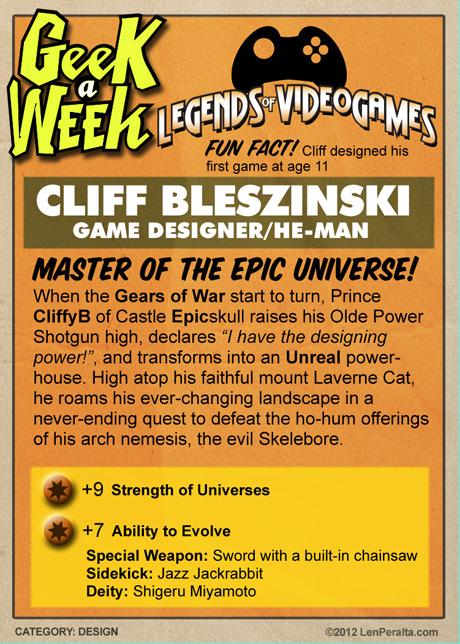 Legends of Videogames: Cliff Bleszinski back