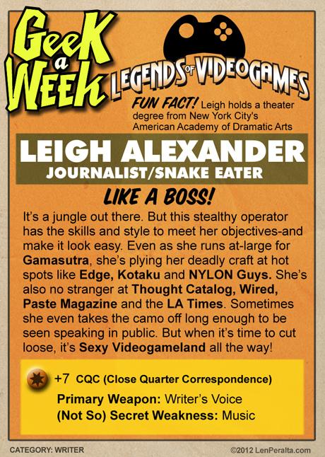 Legends of Videogames: Leigh Alexander back