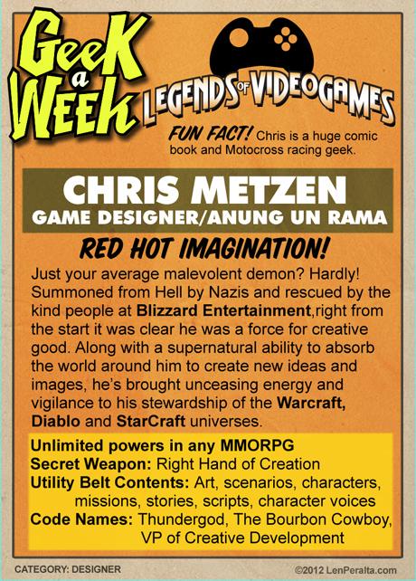 Legends of Videogames: Chris Metzen back