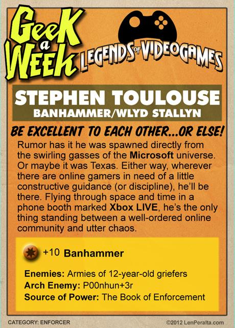 "Legends Of Videogames: Stephen ""Stepto"" Toulouse back"