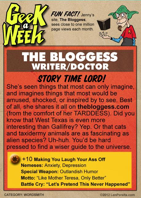 Geek A Week One-Offs: The Bloggess back
