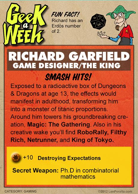 Geek A Week One-Offs: Richard Garfield back