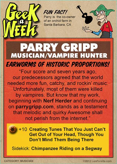Geek A Week One-offs: Parry Gripp back