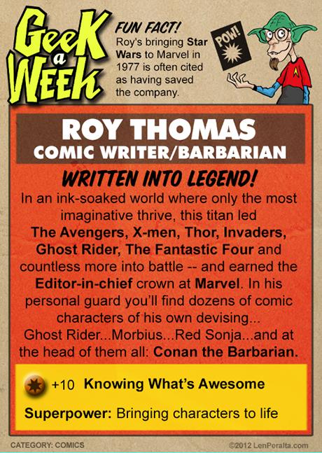 Geek A Week One-Offs: Roy Thomas back