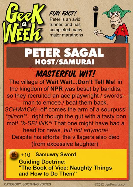 Geek A Week One-Offs: Peter Sagal back