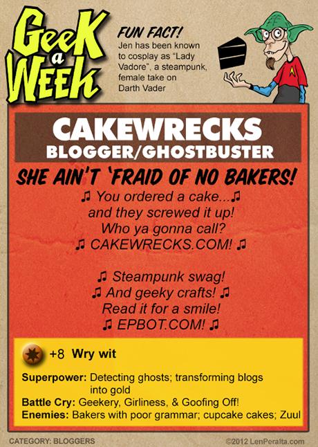 Geek A Week One-Offs: Cakewrecks back