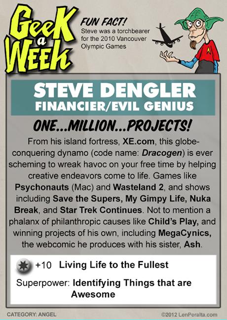 Geek A Week SuperFan: Steve Dengler back