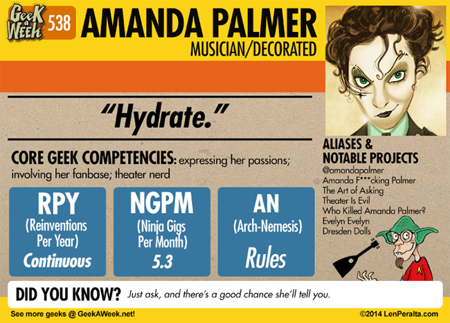 Geek A Week: Year Five Two: Amanda Palmer back