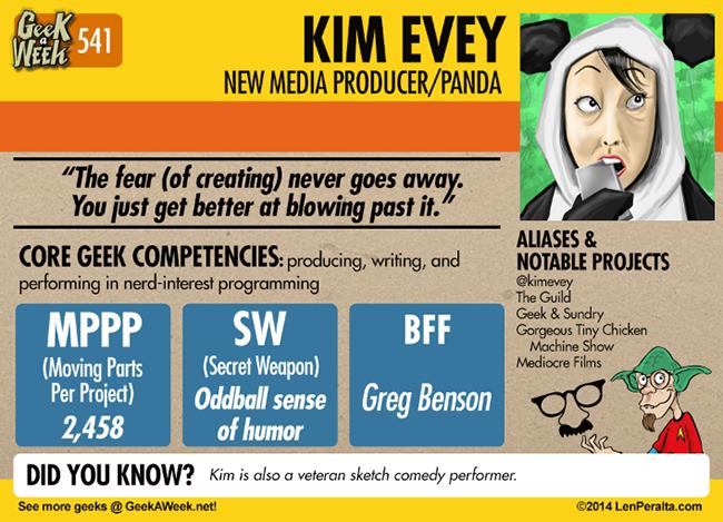 Geek A Week: Year Five Two: Kim Evey back