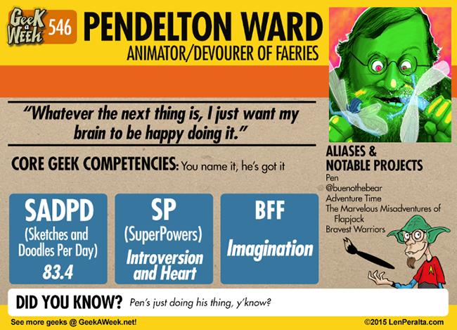 Geek A Week: Year Five Two: Pendelton Ward back